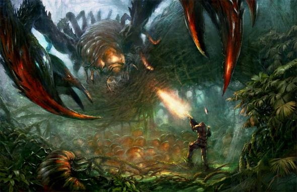 Grosnez deviantart illustrations fantasy science fiction Tropical insect