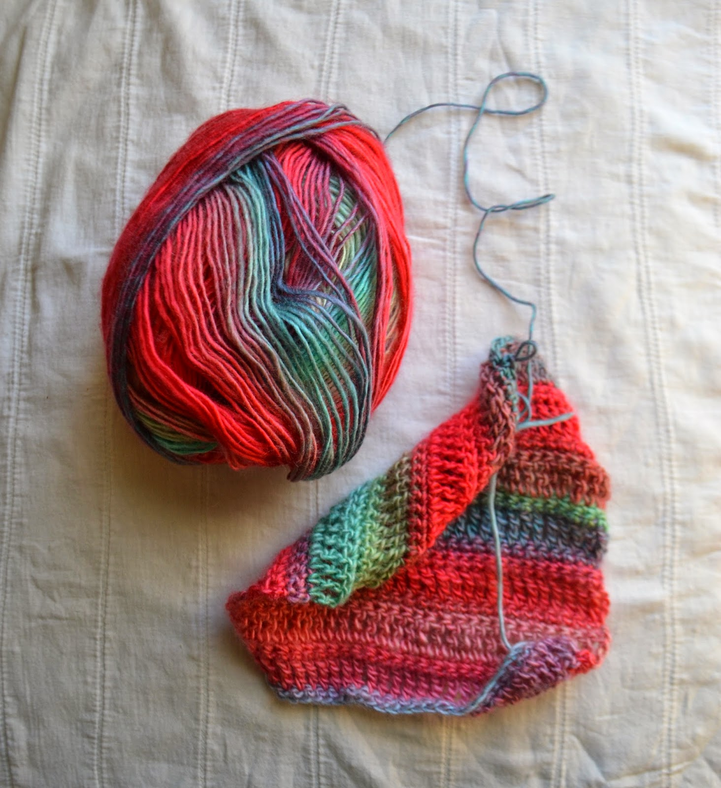 An Old Soul At Home: Testing Out Red Heart Boutique Unforgettable Yarn