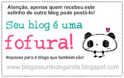 "PREMIO: ""SEU BLOG  UMA  FOFURA"""