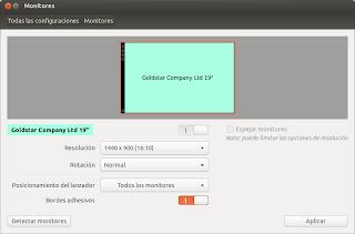 Error configuración monitores Ubuntu 12.10, ubuntu 12.10 pantalla, resolución pantalla ubuntu 12.10