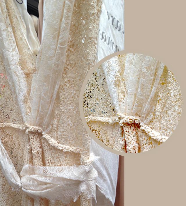 détail robe dentelle