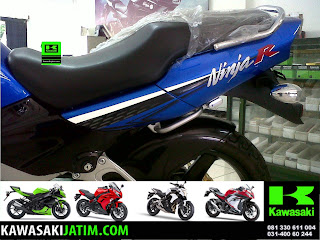 Ninja 150R Biru New Stripping belakang