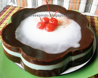 Cara Membuat Puding Coklat Sederhana Saus Vla Vanila