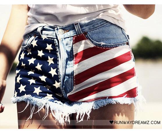 DISCOairglow: Salute Your Shorts! DIY American Flag Shorts