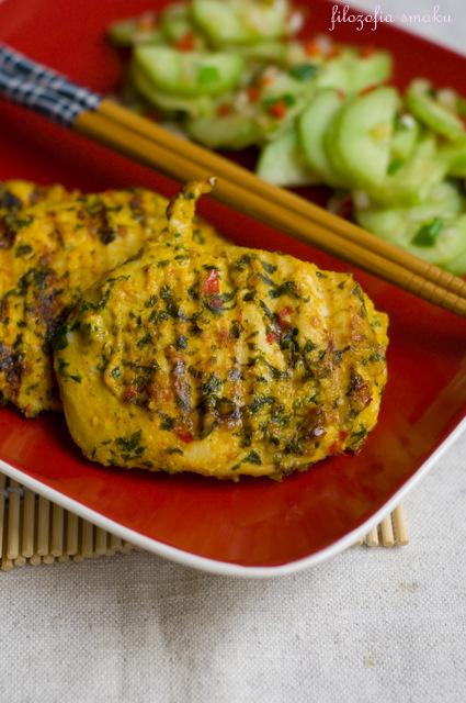 Kurczak z grillwa po tajsku