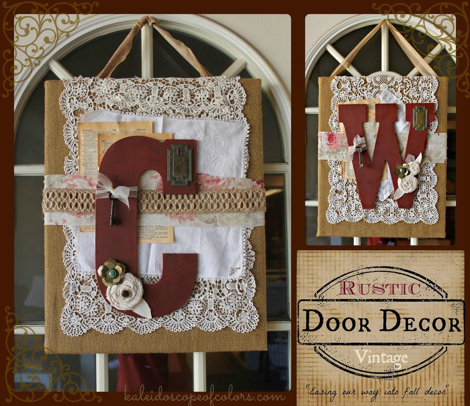 Kaleidoscope Of Colors Diy Rustic Vintage Door Decor
