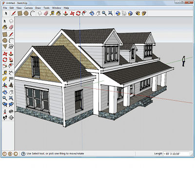 Google sketchup te animas taringa for Programa para dibujar casas