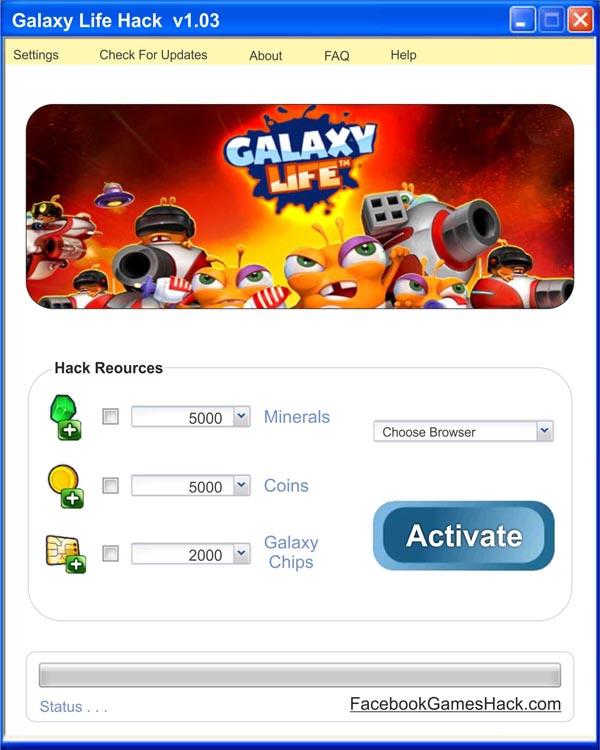 Jeux en ligne Hacks: Galaxy Life Hack - illimités Chips, Minerals et ...
