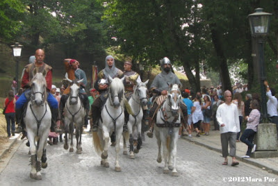 knights in medieval procession