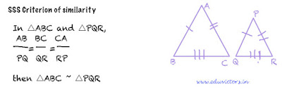 CBSE Class 10 Maths CH6 Triangles (Important Points You must Know) - SSS Criterion
