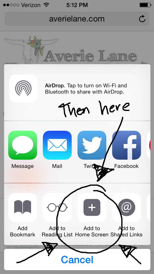 *NEW* App Icon for Averie Lane + how to add it to your iPhone home screen