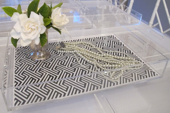 PERSONALIZED LUCITE TRAYS