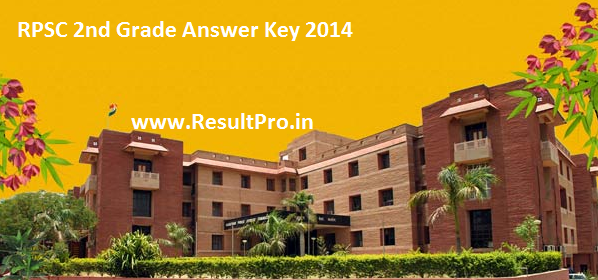 RPSC 2nd Grade Answer Key 2014