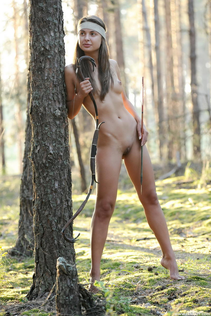 Female archers naked erotic natural woman