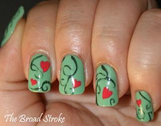 Slike noktiju - srca,love 009