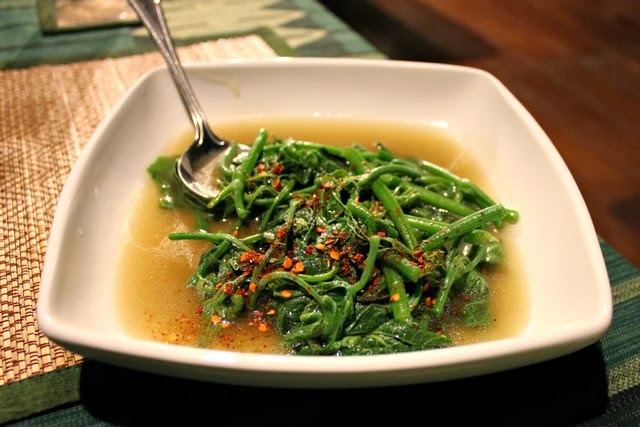 Chinese watercress food