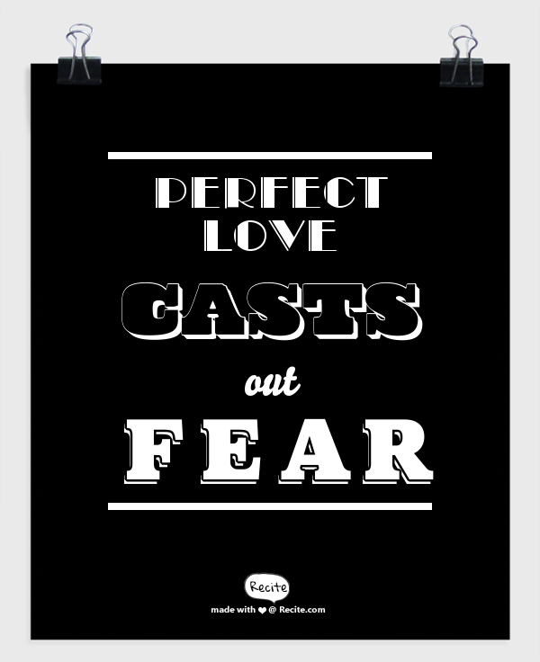 how to let go of fear
