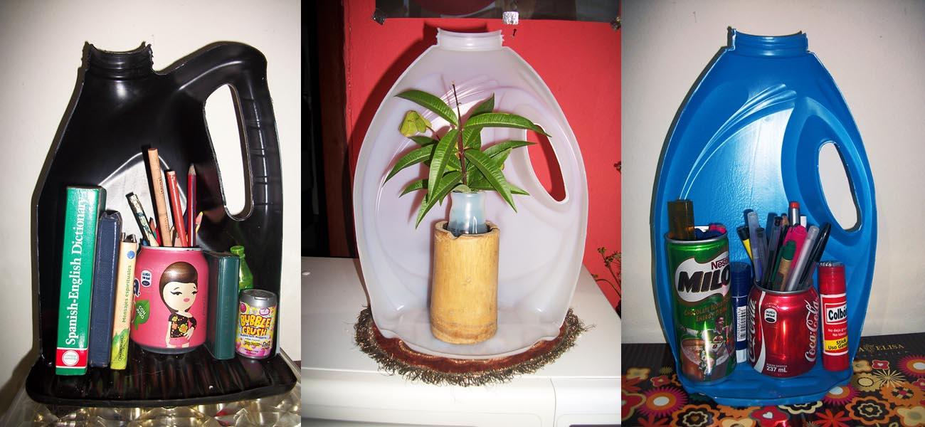 El trebol azul reutilizando botes de detergente - Como hacer plastico liquido ...