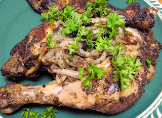 grilled sumac chicken with onions