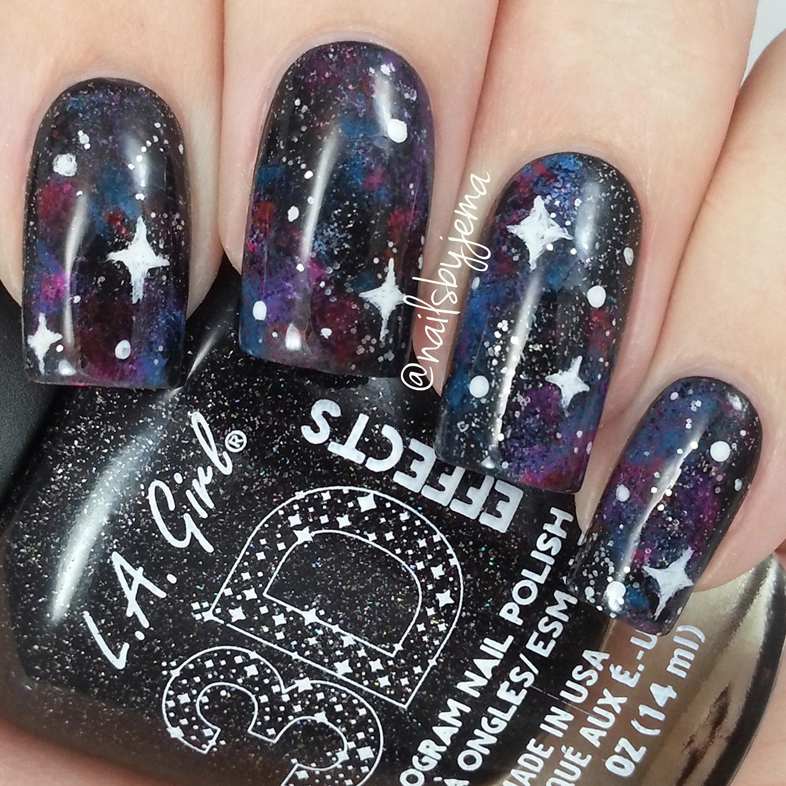 N A I L S B Y J E M A: Easy Galaxy Nails Tutorial