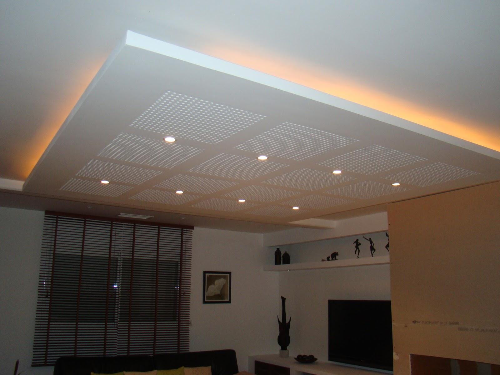 Faux plafond cours et pr sentation en pdf outils for Eclairage plafond salon