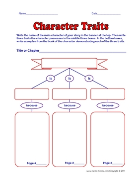 Printables Character Traits Worksheets character traits the colorful apple this worksheet is great because students have to prove with an example and page number how exhibits each trait
