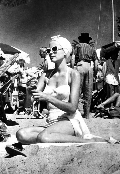 one piece swimsuit - princess grace kelly of monaco style icon
