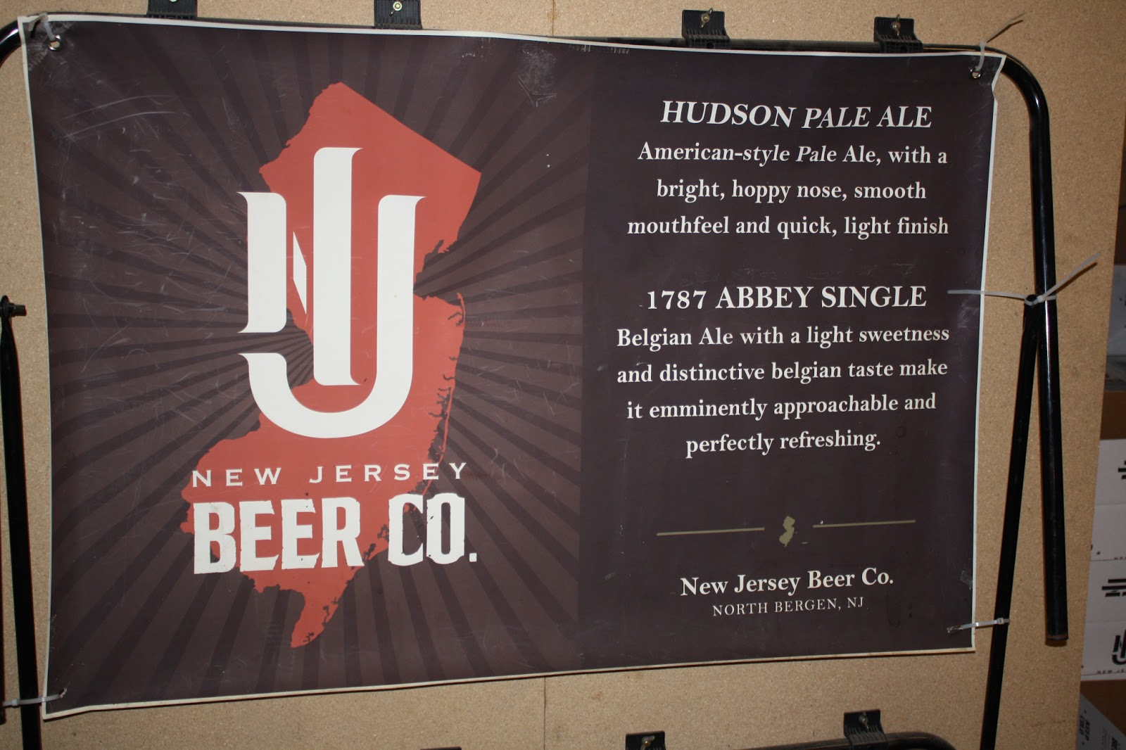 Banner inside New Jersey Beer Co.