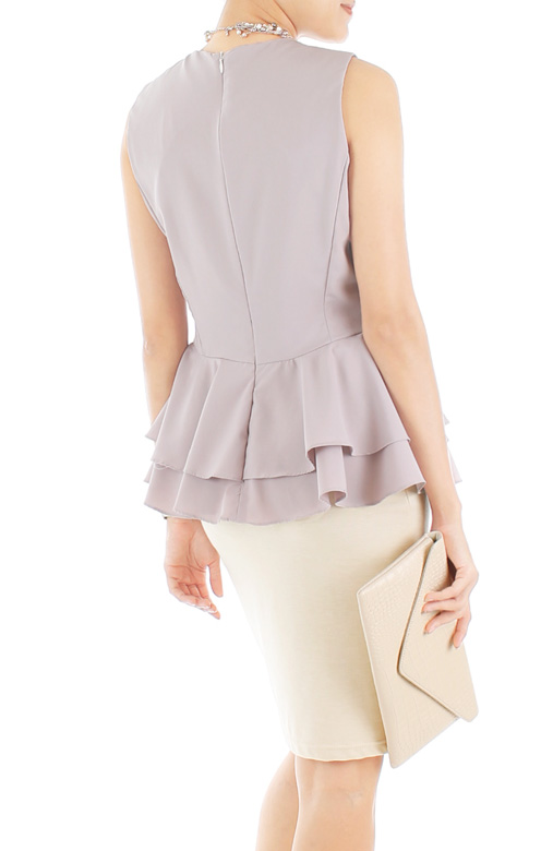 Evening Reservations Peplum Top - Thistle