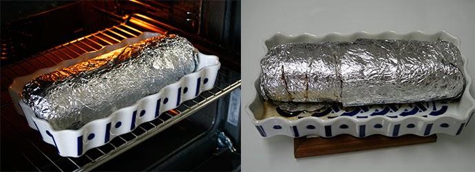 Rollo de carne picada en el horno