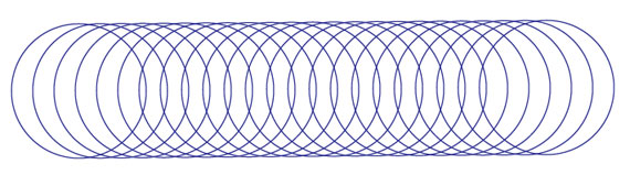 circles overlapping for a Spirograph effect