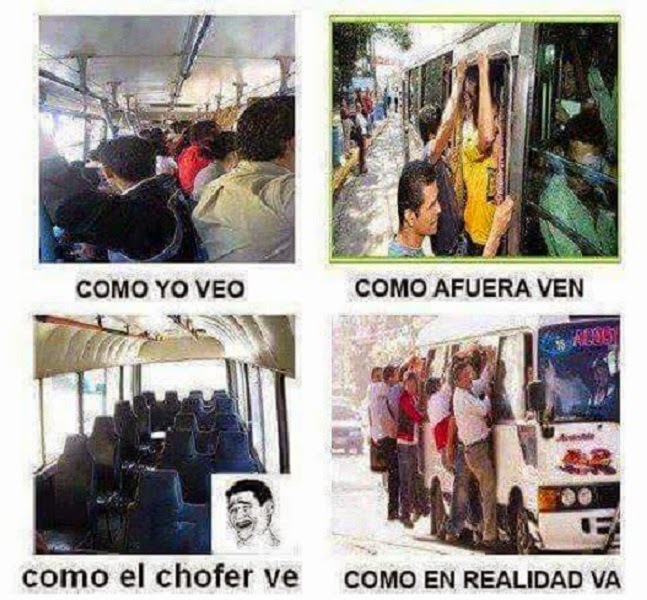 Diferentes maneras de ver el bus