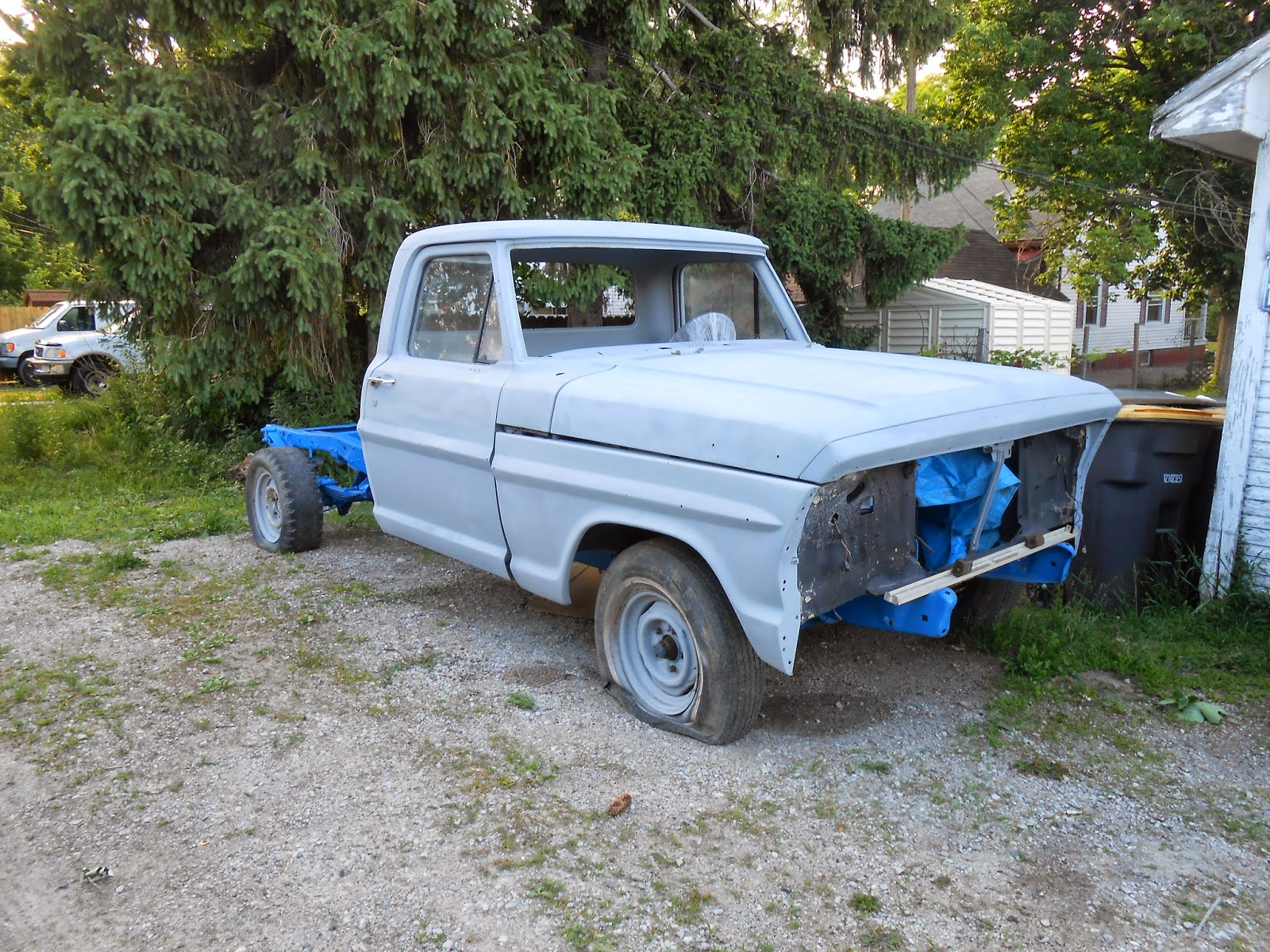 1970 Ford F100 primered from the Cab forward