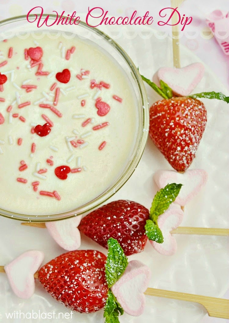 white chocolate dip