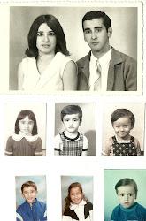 Me encanta esta foto, mis padres y mis hermanos, hace muchos años.