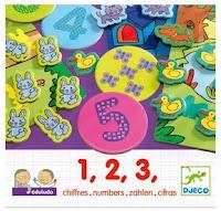 4 jeux de chiffres avec 1,2,3 de Djeco