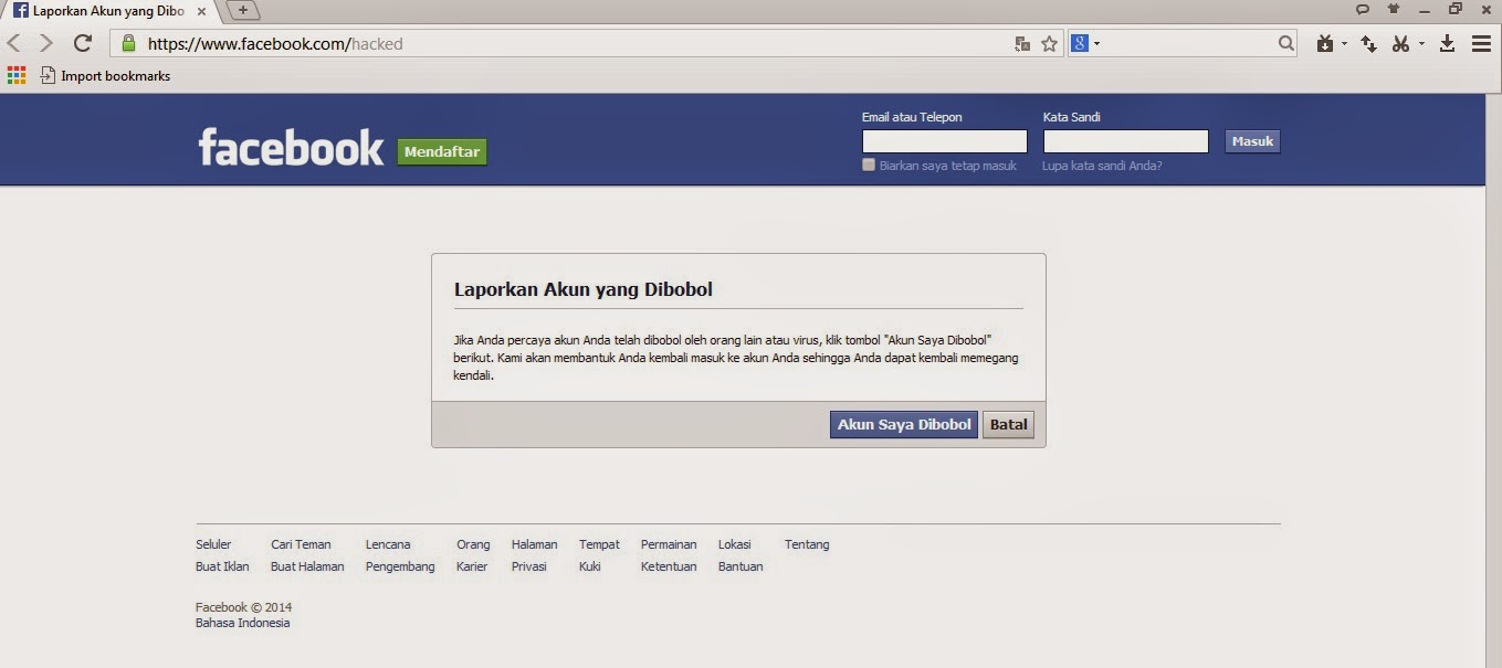 CARA MEMBOBOL PASSWORD FACEBOOK TANPA SOFTWERE