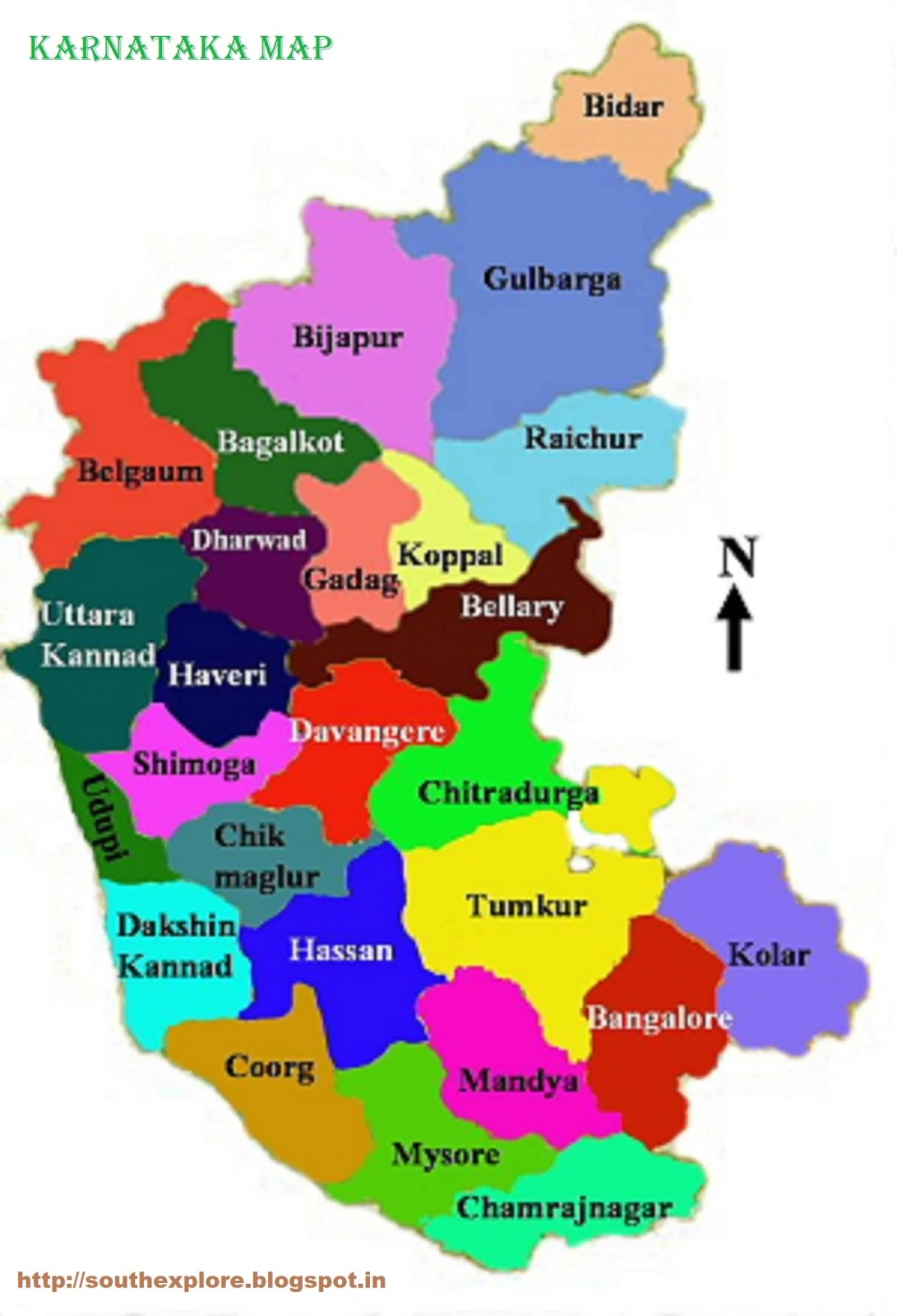 KARNATAKA TOURISM MAP TOURIST ATTRACTIONS IN KARNATAKA TOURIST – South India Map With Tourist Places