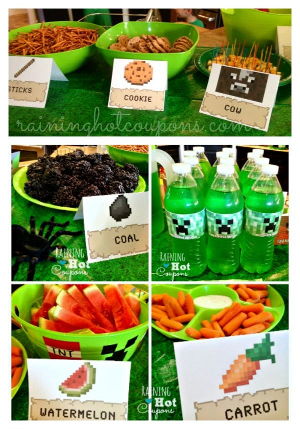 http://www.raininghotcoupons.com/minecraft-party-ideas/