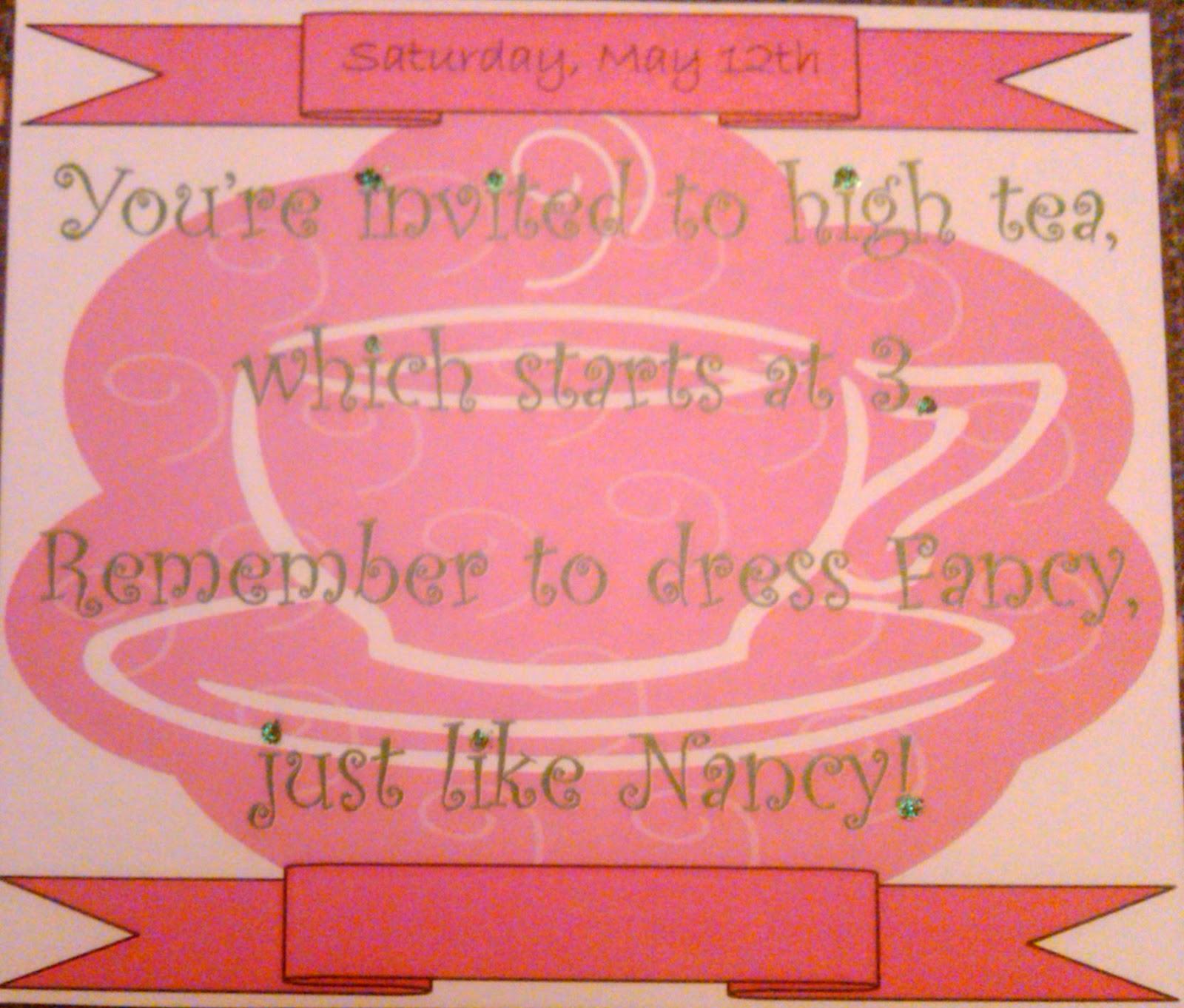 Neverlandarling: Fancy Nancy Tea Party