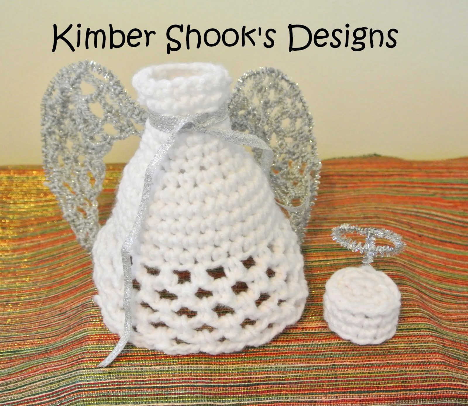 Christmas Angel Wine Bottle Crocheted Cozy