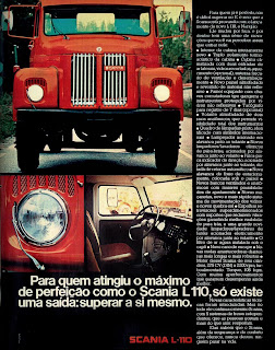 propaganda caminhão Scania L 110 - 1974. brazilian advertising cars in the 70. os anos 70. história da década de 70; Brazil in the 70s; propaganda carros anos 70; Oswaldo Hernandez;