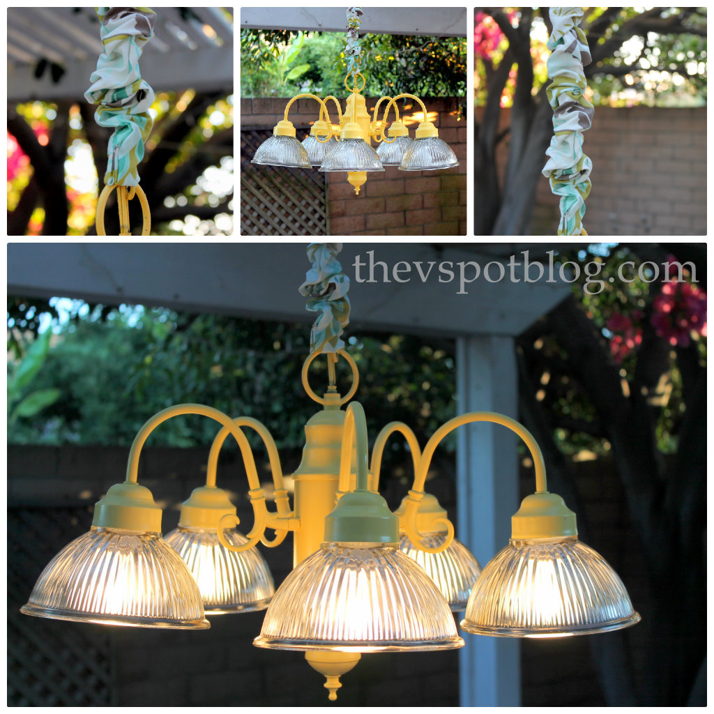 No-sew cord cover & chandelier re-do (Getting ready for Bunco week ...