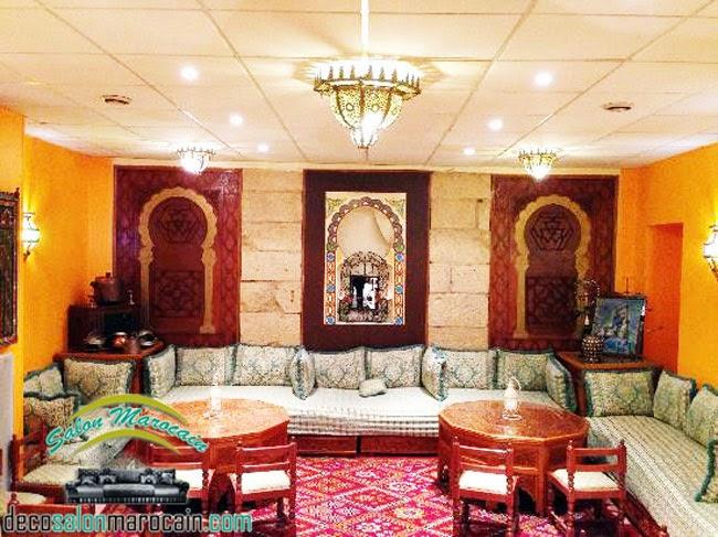 Salon marocain moderne 2014 salon marocain place palas - Faire un salon marocain ...