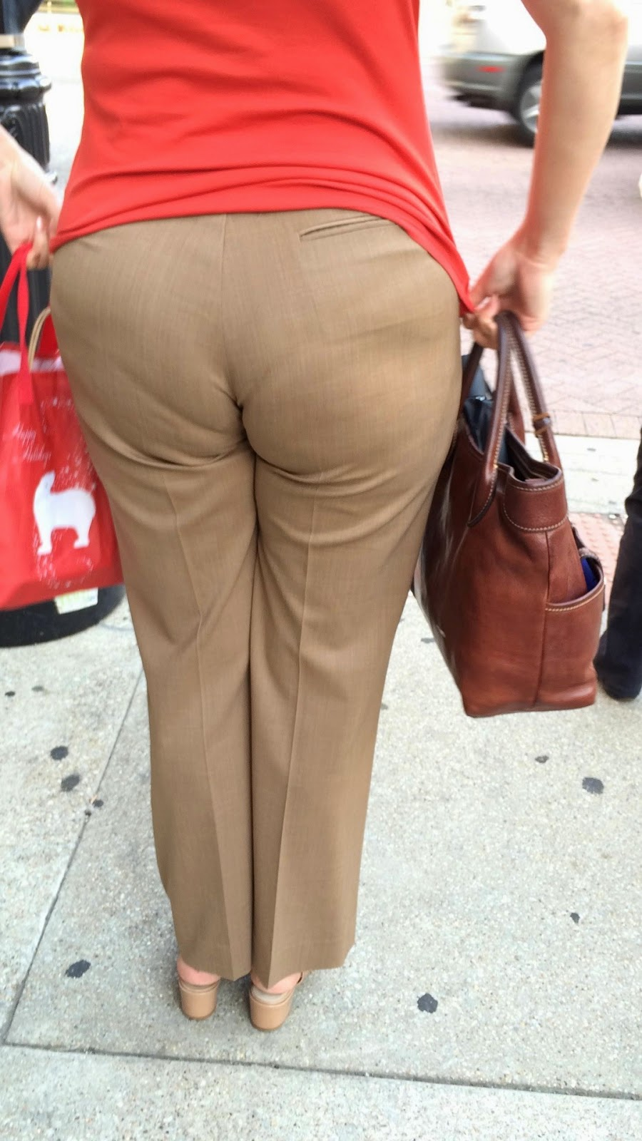Women with big round butts
