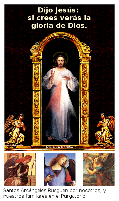 divina misericordia con los arcangeles