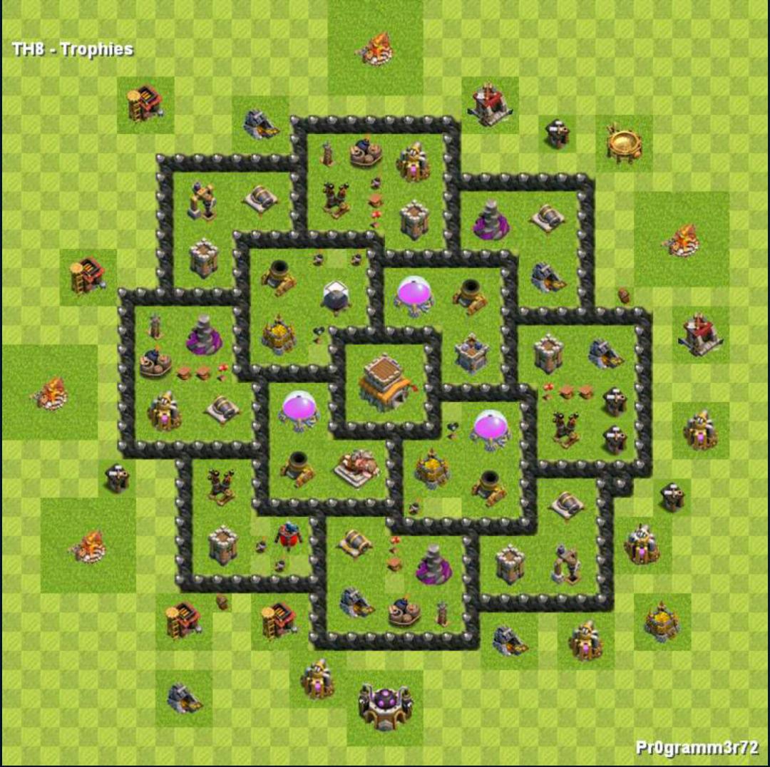 centro da vila nivel 8 melhor layout clash of clans dicas
