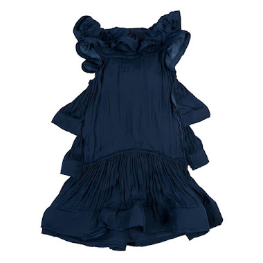 lanvin by alber elbaz spring summer 2008 blue polyester silk dress