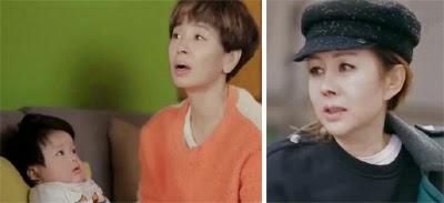Kwon Joon Young 권준영 as Kim Gook stares up at Lee Mi Young 이미영 as Jo Yang Ja. / Park Joon Geum 박준금 as Yoon Sung Sook looking young and stylish.