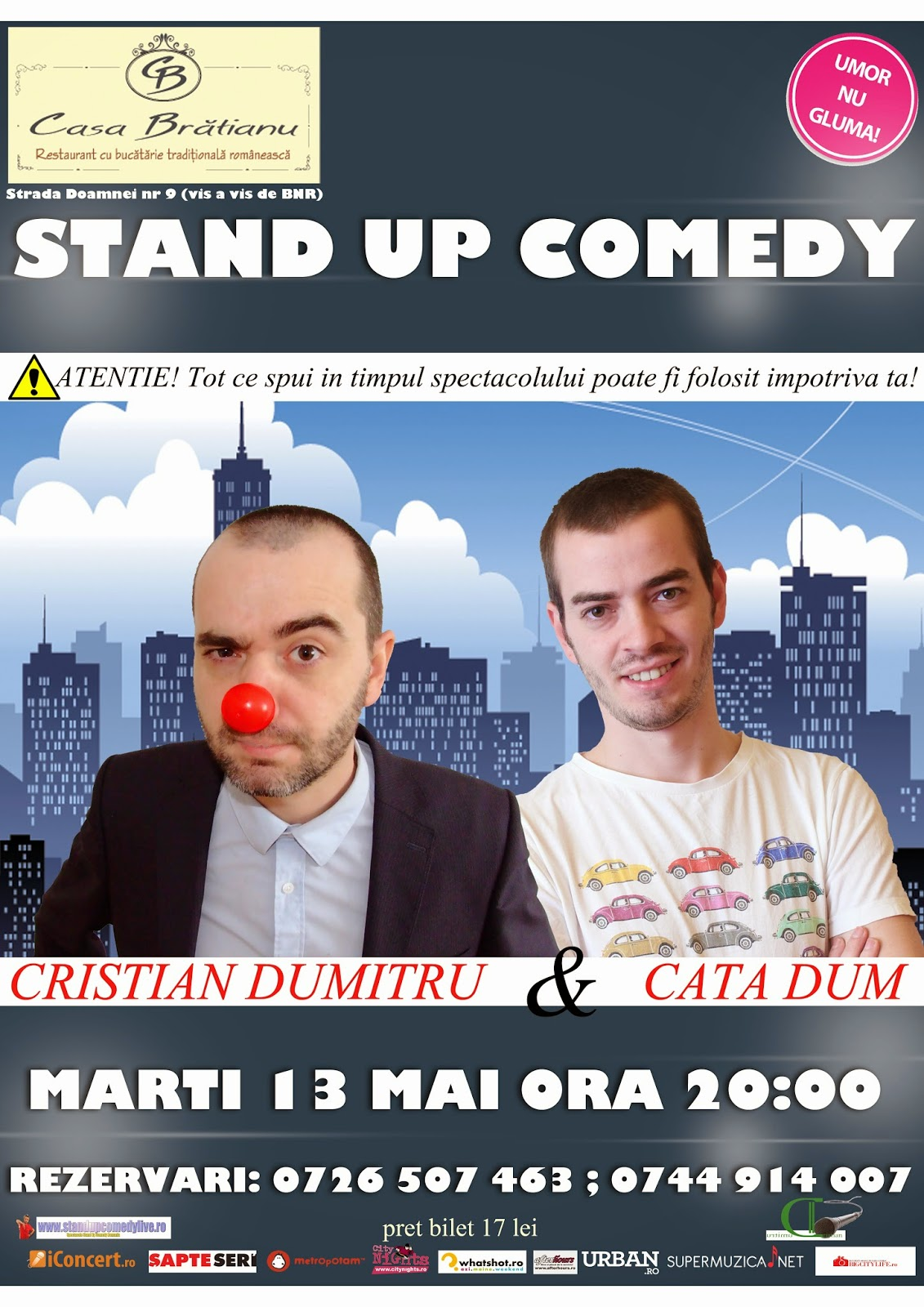 Stand-Up comedy Marti Bucuresti 13 Mai